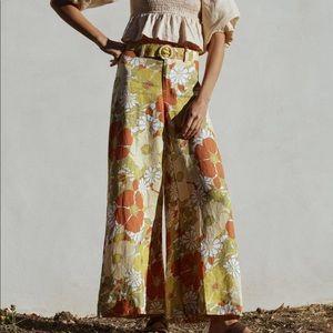 Rare! Anthropologie Faithfull floral pants